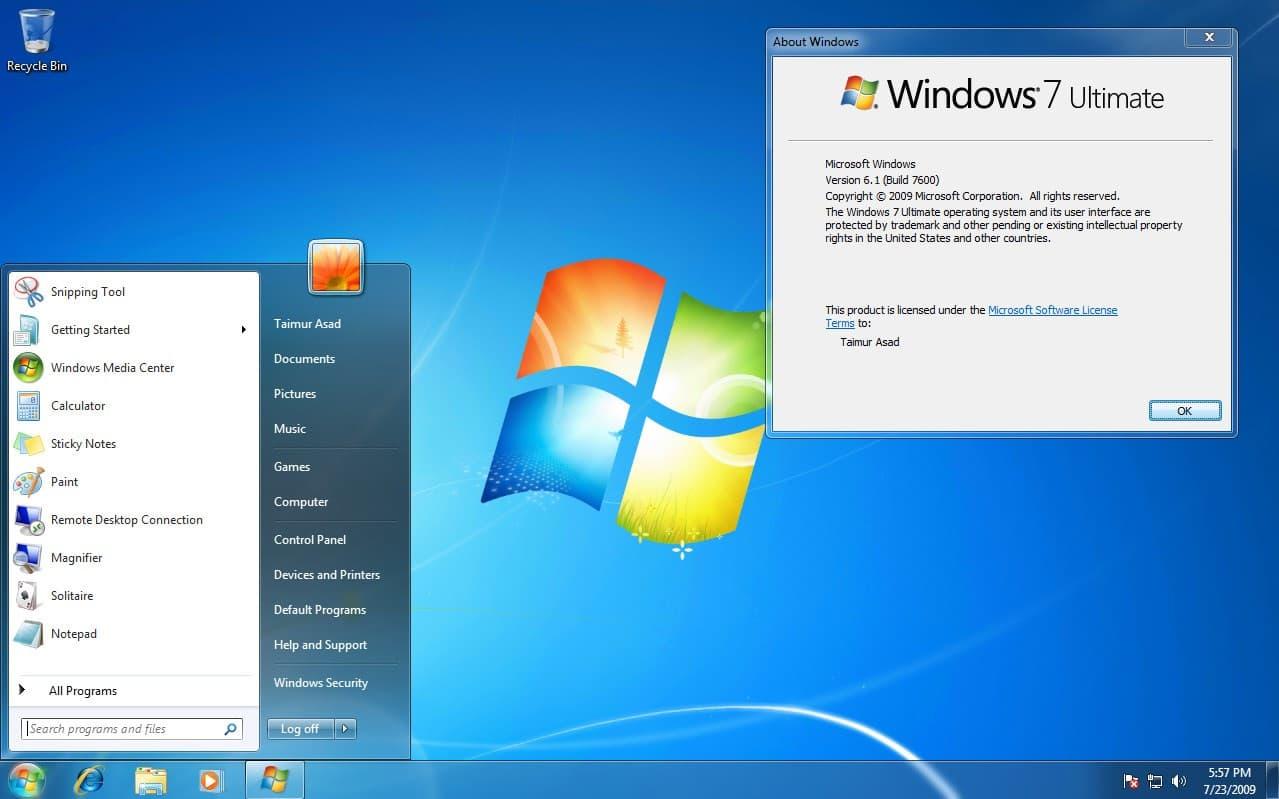 Windows 7 Starter with Service